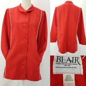 Blair Mod Red Retro Style Piping Lined Jacket 18